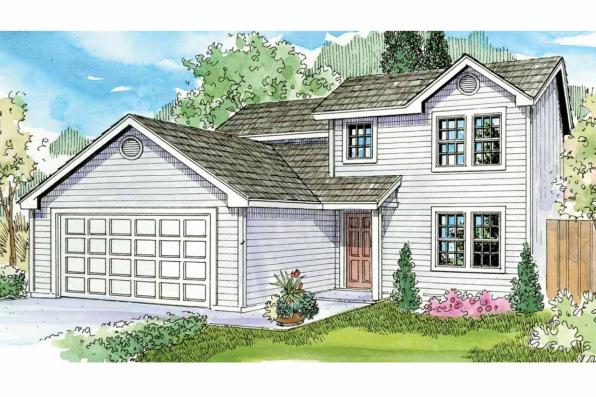 Contemporary House Plan - Wethersfield 30-702 - Front Elevation