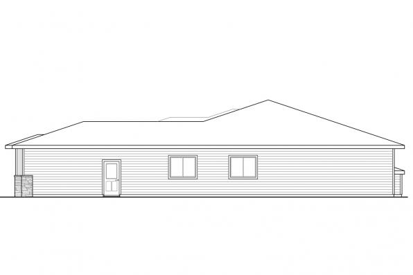Corner Lot House Plan - Arrowwood 31-051 - Right Elevation