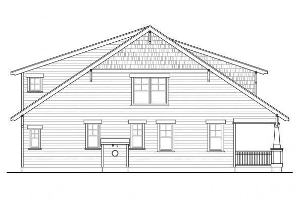 Cottage House Plan - Blue River 30-789 - Left Elevation
