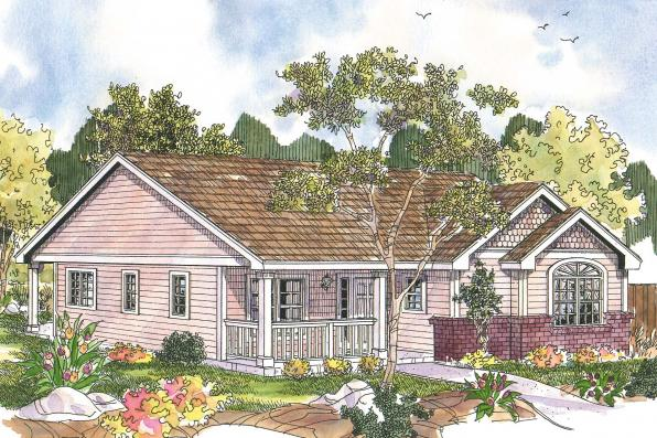 Cottage House Plan - Callaway 30-641 - Front Elevation