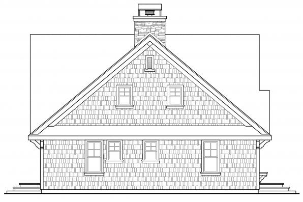 Cottage House Plan - Cedar View 50-012 - Rear Elevation