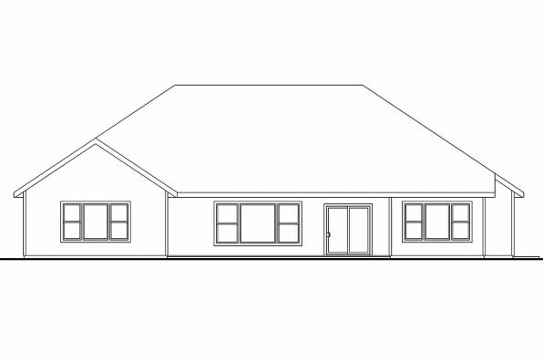 Cottage House Plan - Dalneigh 30-709 - Rear Elevation