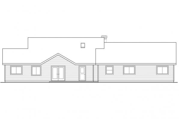 Cottage House Plan - Darrington 30-941 - Rear Elevation