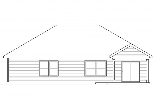 Cottage House Plan - Eastford 30-925 - Rear Elevation