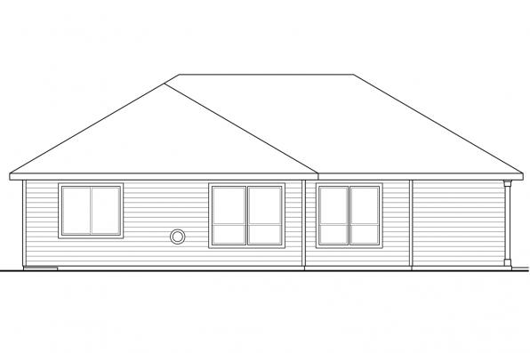 Cottage House Plan - Flagstone 31-059 - Rear Elevation
