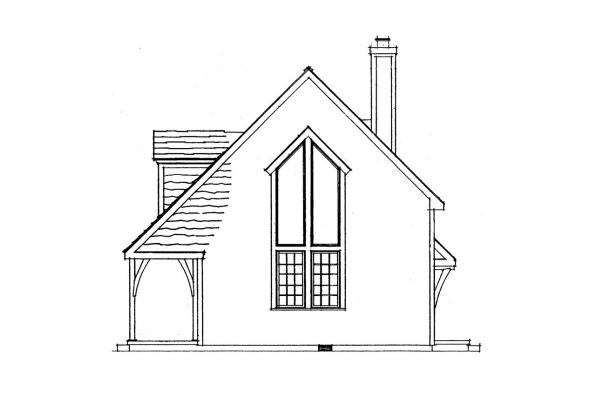 Cottage House Plan - Langford 42-014 - Right Elevation