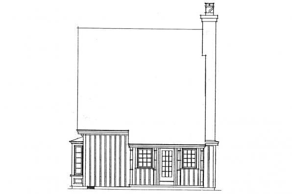 Cottage House Plan - Topeka 42-012 - Right Elevation