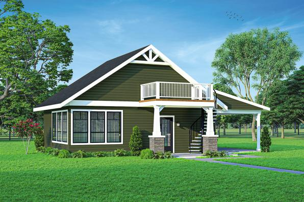 Cottage House Plan - Wolf Creek Cottage 31-249 - Front Elevation