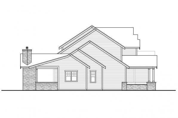 Country Home Plan - Eatonville 31-165 - Left Elevation