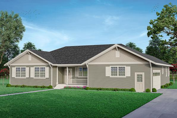 Country House Plan - Agness 31-293 - Front Elevation