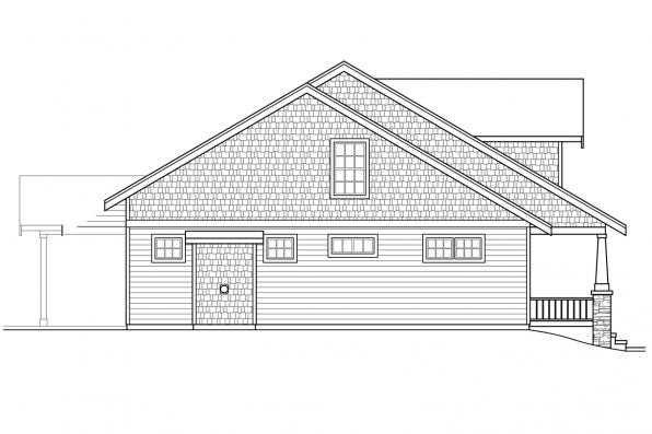 Country House Plan - Alexandria 30-974 - Left Elevation