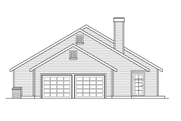 Country House Plan - Alpine 30-043 - Right Elevation