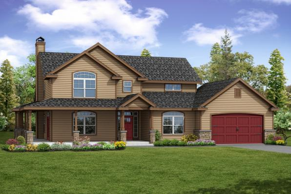 Country House Plan - Anchorage 30-930 - Front Elevation