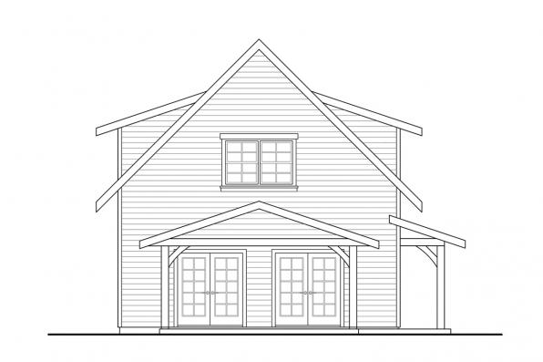 Country House Plan - Bayberry Cottage 31-248 - Left Elevation