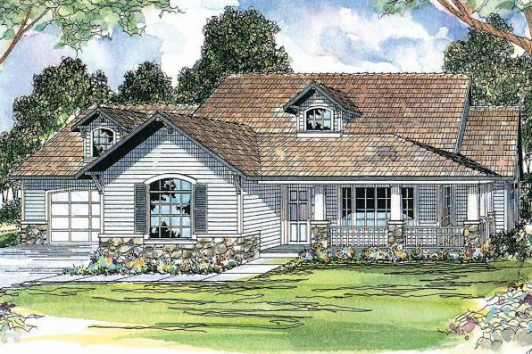 Country House Plan - Binghamton 10-259 - Front Elevation