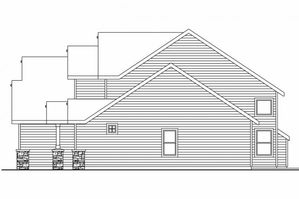 Country House Plan - Briarwood 30-690 - Right Elevation