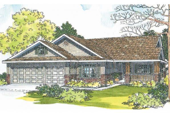Country House Plan - Brillion 30-167 - Front Elevation