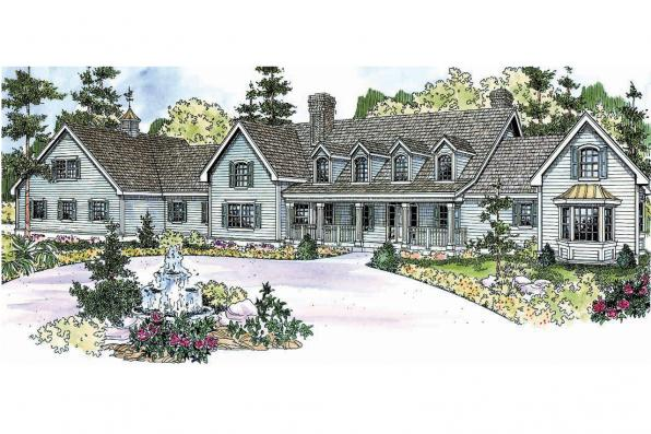 Country House Plan - Brookfield 30-646 - Front Elevation