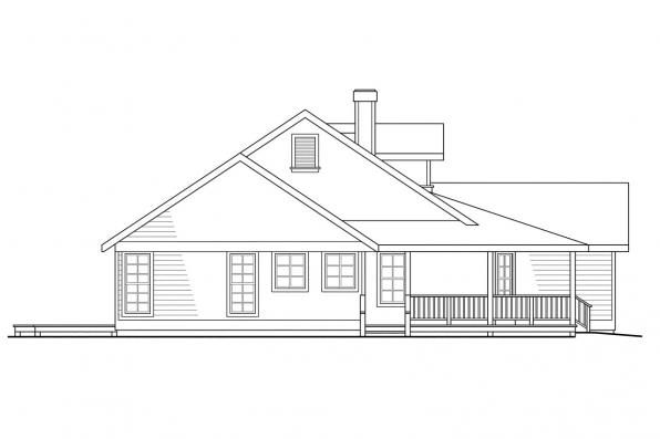 Country House Plan - Cambridge 10-045 - Left Elevation