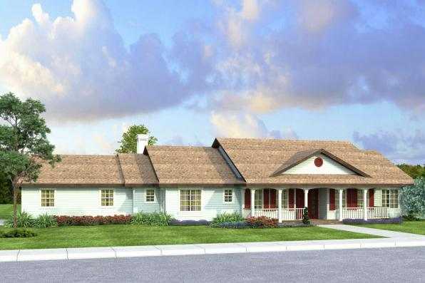 Country House Plan - Clarkdale 30-783 - Front Elevation