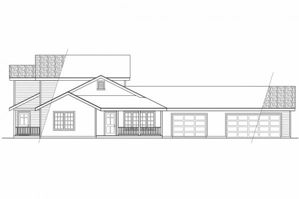 Country House Plan - Corydon 60-008 - Right Elevation