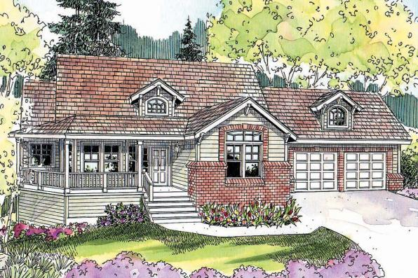 Country House Plan - Cumberland 30-606 - Front Elevation