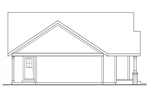 Country House Plan - Danville 30-284 - Left Elevation