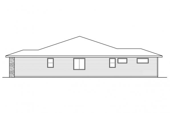 Country House Plan - Ellensburg 31-217 - Right Elevation