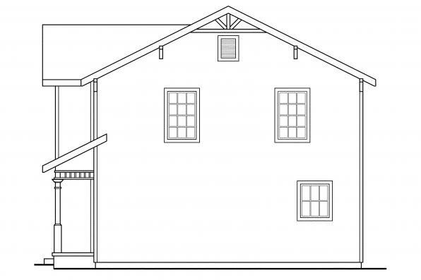 Country House Plan - Emerson 30-108 - Right Elevation