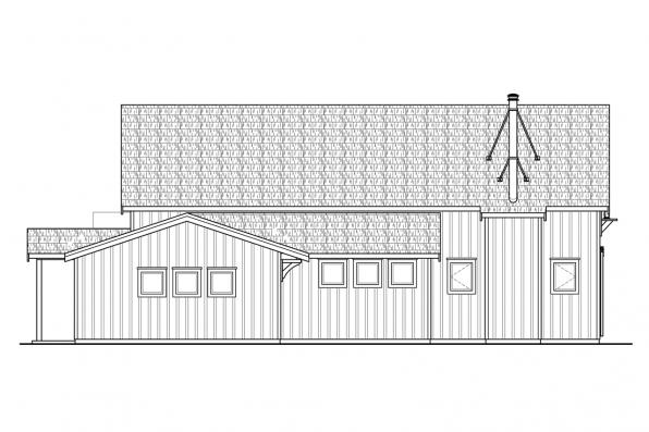 Country House Plan - Fairheart 10-600 - Left Elevation