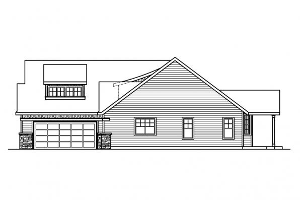 Country House Plan - Heartfield 30-400 - Right Elevation