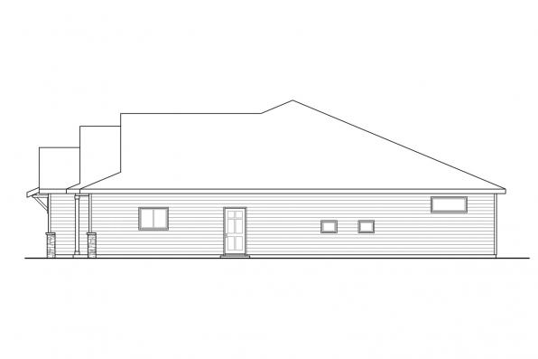 Country House Plan - Helena 31-199 - Right Elevation