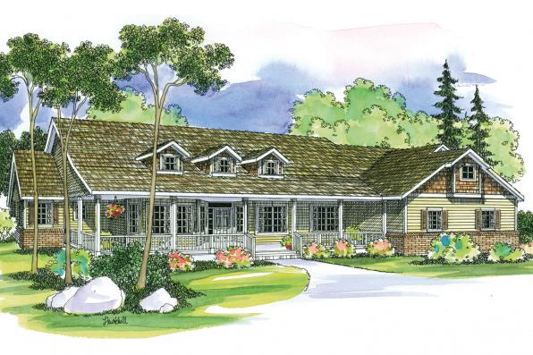 Country House Plan - Hillrose 30-269 - Front Elevation