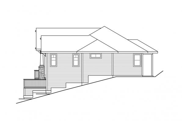 Country House Plan - Manorwood 31-291 - Right Elevation