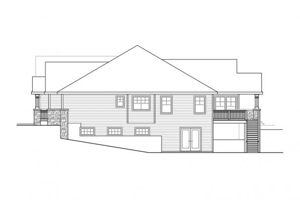 Country House Plan - Mossy Point 30-900 - Right Elevation