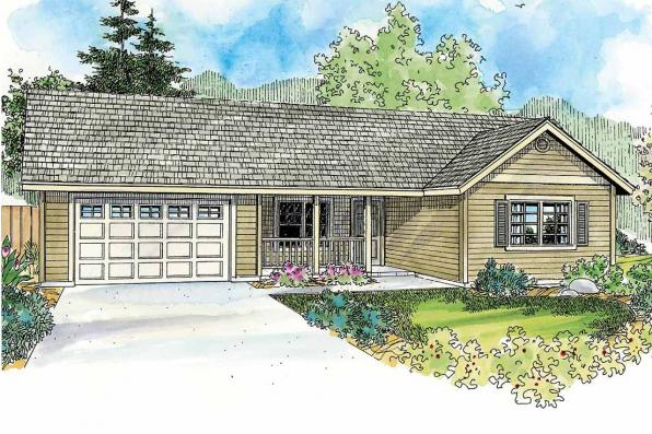 Country House Plan - Prichard 30-701 - Front Elevation