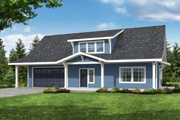 Country House Plan - Primrose 30-826 - Front Elevation