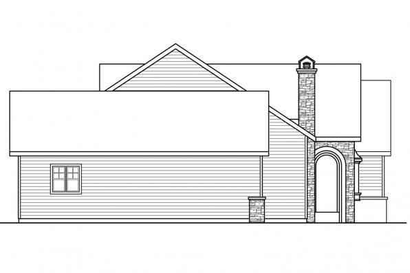 Country House Plan - Pronghorn 30-917 - Left Elevation