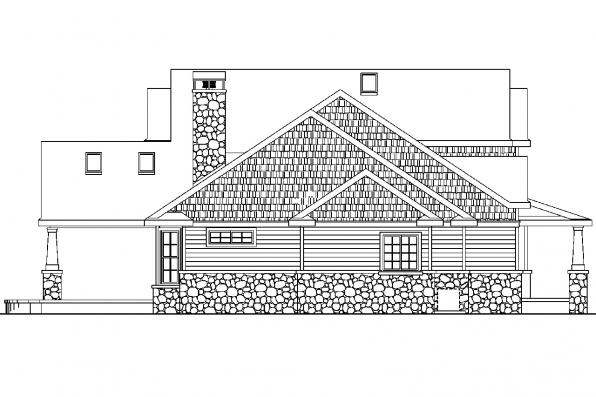 Country House Plan - Tillamook 30-519 - Left Elevation