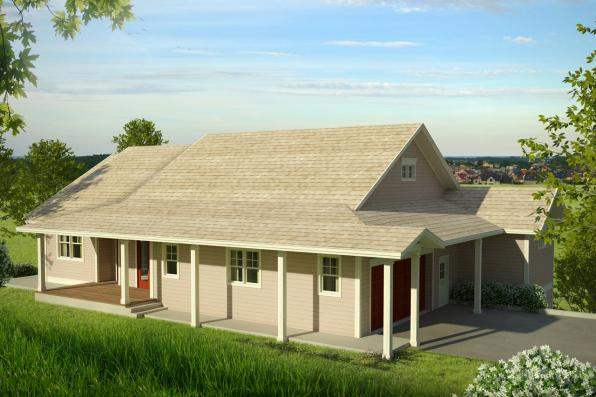 Country House Plan - Tumalo 30-996 - Front Elevation