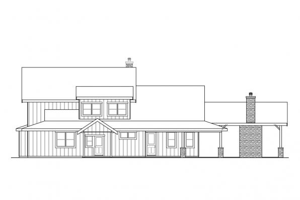 Country House Plan - Wind River 31-241 - Rear Elevation
