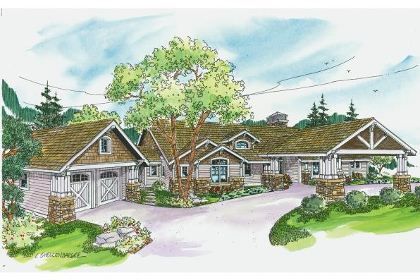 Craftsman House Plan - Arborgate 30-654 - Front Elevation