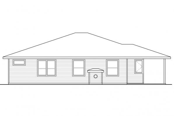 Craftsman House Plan - Arrowwood 31-051 - Rear Elevation