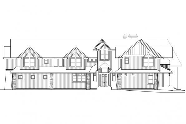 Craftsman House Plan - Bentonville 30-275 - Right Elevation