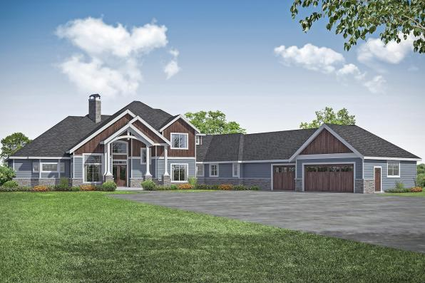 Craftsman House Plan - Concord 31-144 - Front Elevation