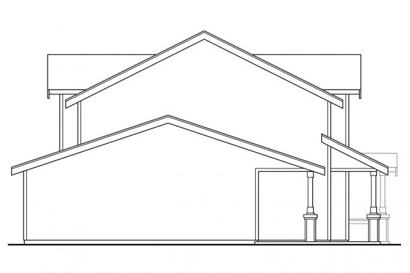 Craftsman House Plan - Cranbrook 60-009 - Left Elevation