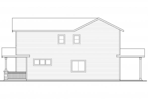 Craftsman House Plan - Kennewick 60-037 - Right Elevation