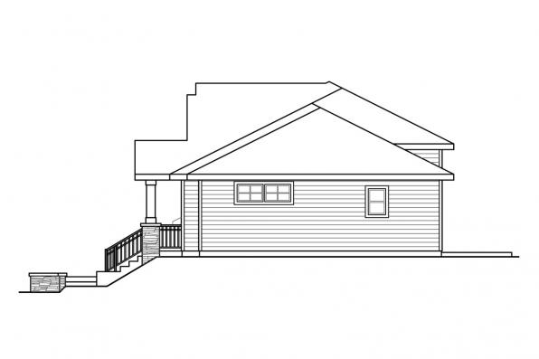 Craftsman House Plan - Lincolnshire 60-032 - Right Elevation