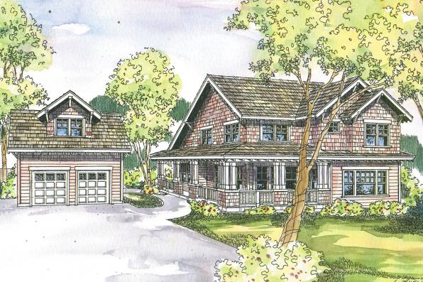 Craftsman House Plan - Mapleton 30-506 - Front Elevation