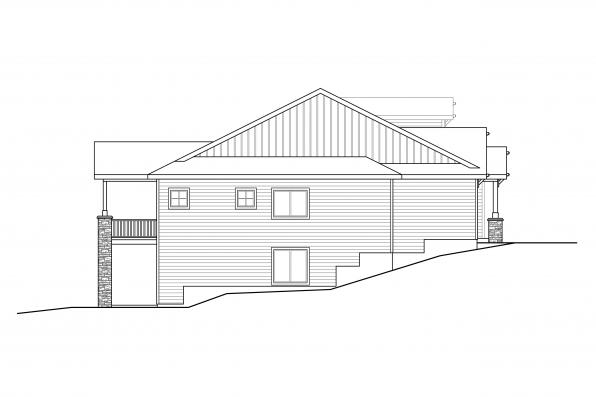 Two Story Home Design - Pine Valley 31-159 - Left Elevation